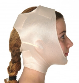 Chin & head support, closed ear