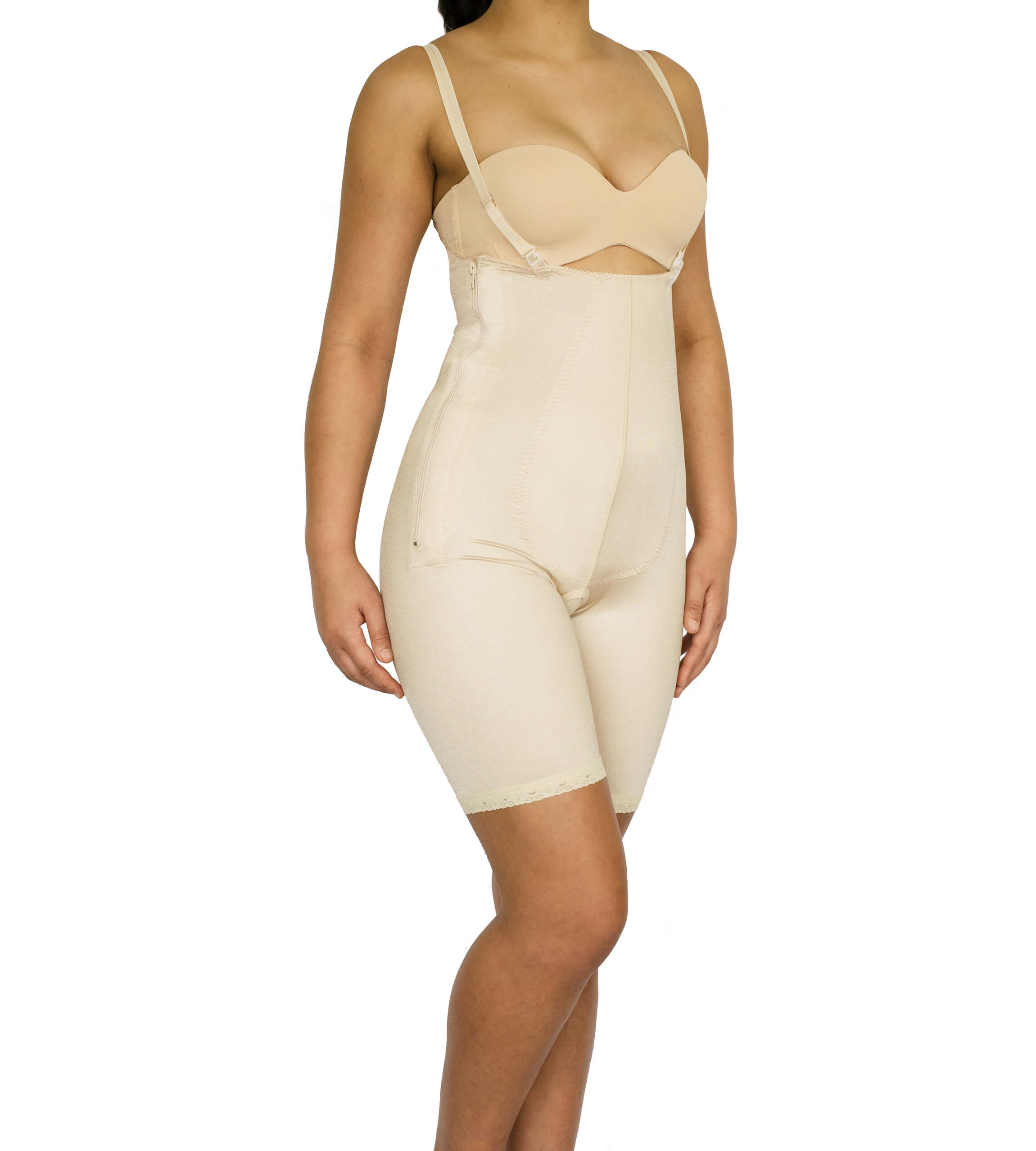 Female, Pants, Mid thigh, Underbust, Normal Support, side Zip, Open crotch